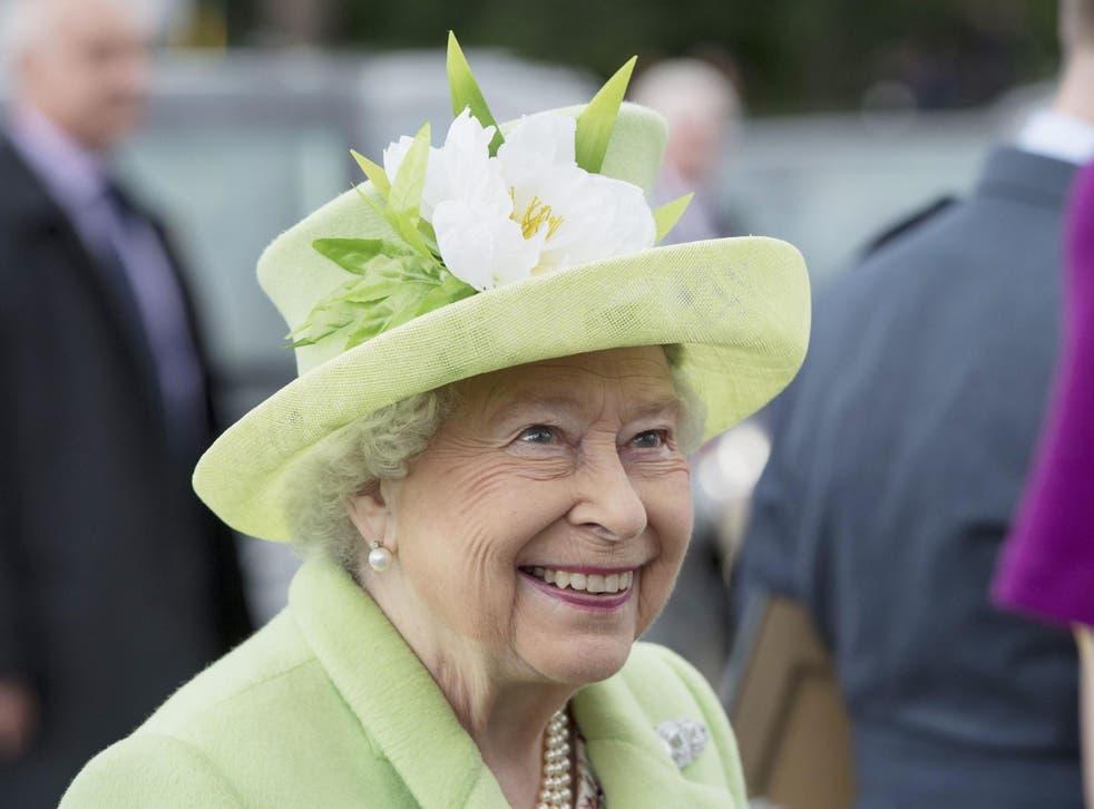 Queen Elizabeth II visiting Northern Ireland in 2016 to mark her 90th birthday