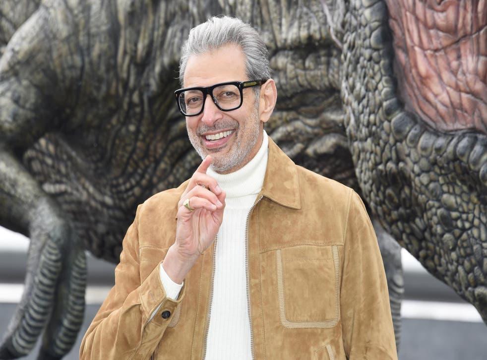 Jeff Goldblum poses during the 'Jurassic World: Fallen Kingdom' photocall at London Bridge on May 24, 2018 in London, England.