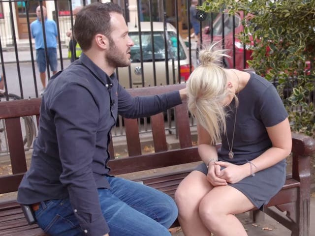 TV hypnotist Aaron Calvert convinced the volunteers they had lost their clothes