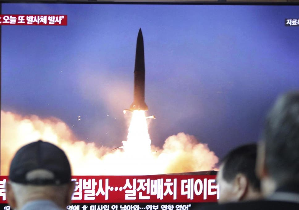 North Korea 'conducts third missile test in eight days', says South