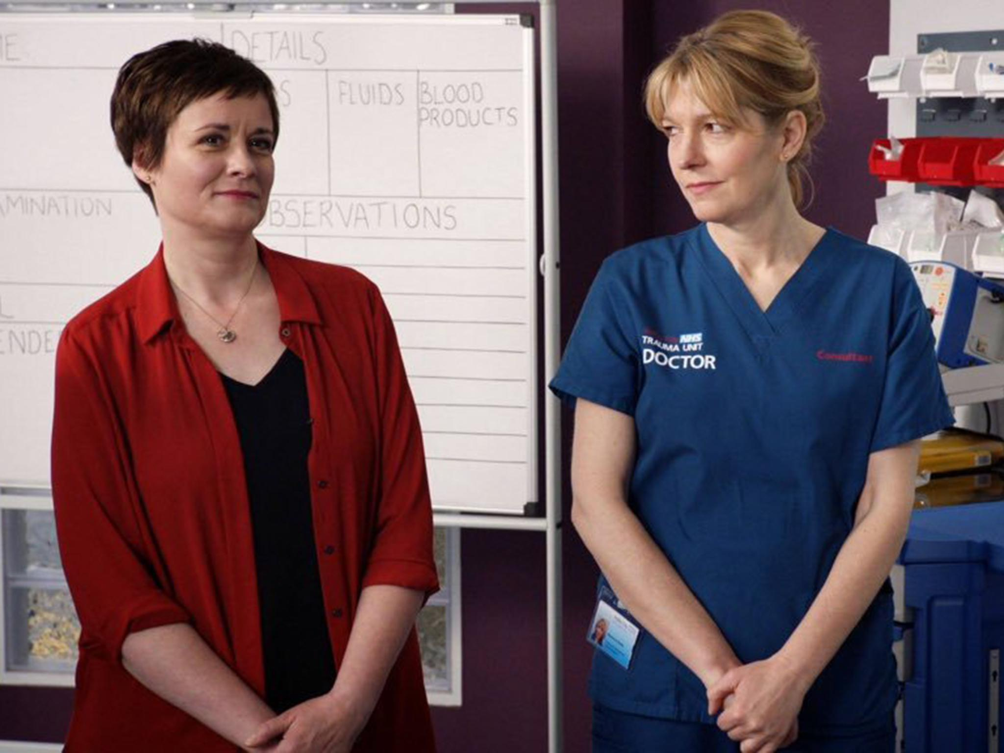 Casualty and Holby City donate medical equipment to NHS