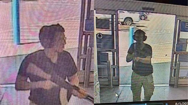 The 21 year old, as he entered the Cielo Vista Walmart store in El Paso. The gunman was armed with an assault rifle and opened fire on shoppers at a packed Walmart store, killing 20.