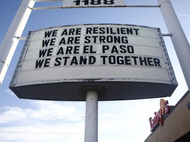 The El Paso community was defiant in the wake of an attack that socked a nation to its core