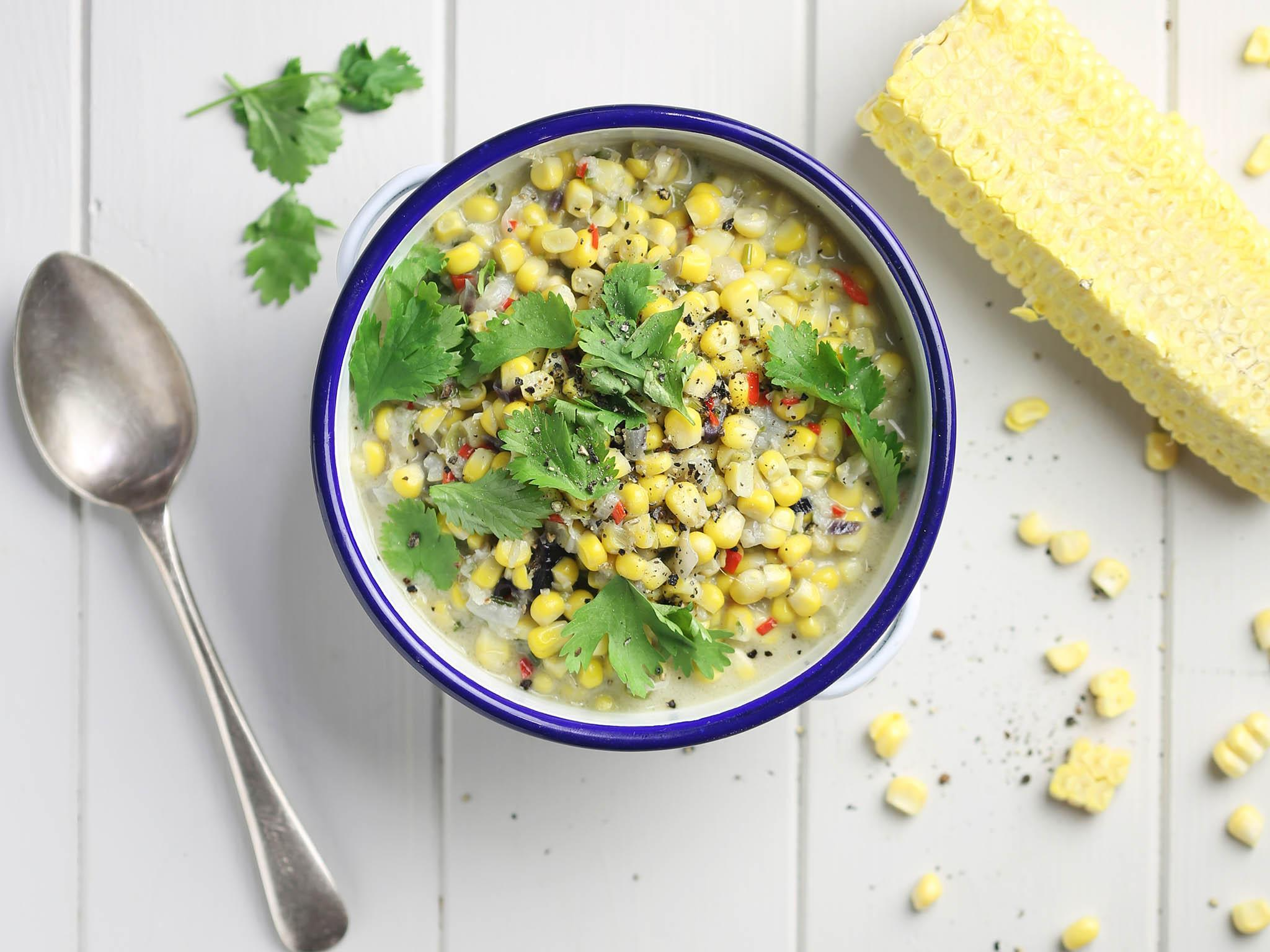 How to make coconut creamed sweetcorn 1
