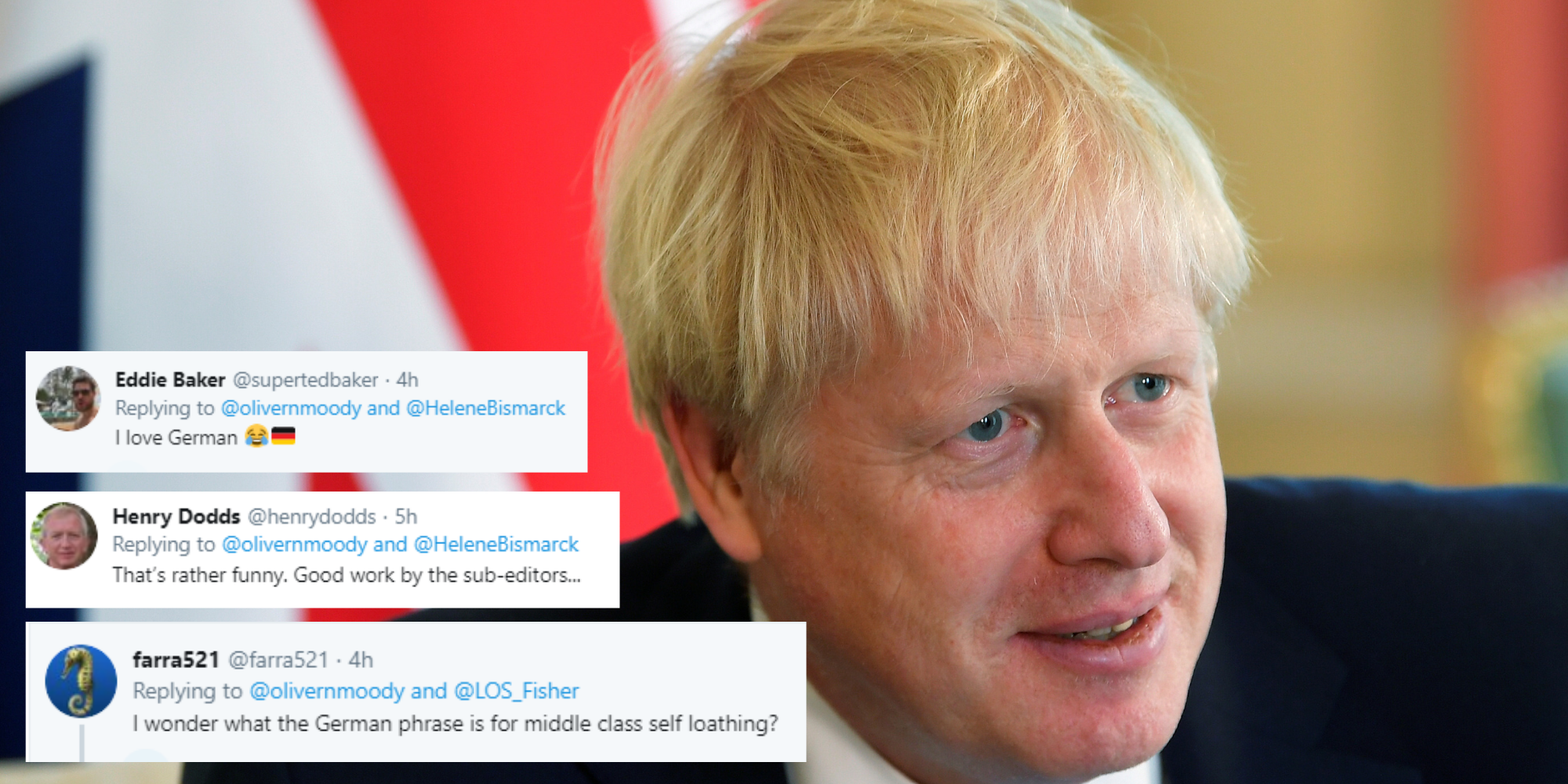 A German newspaper compared Boris Johnson to 'fungus'