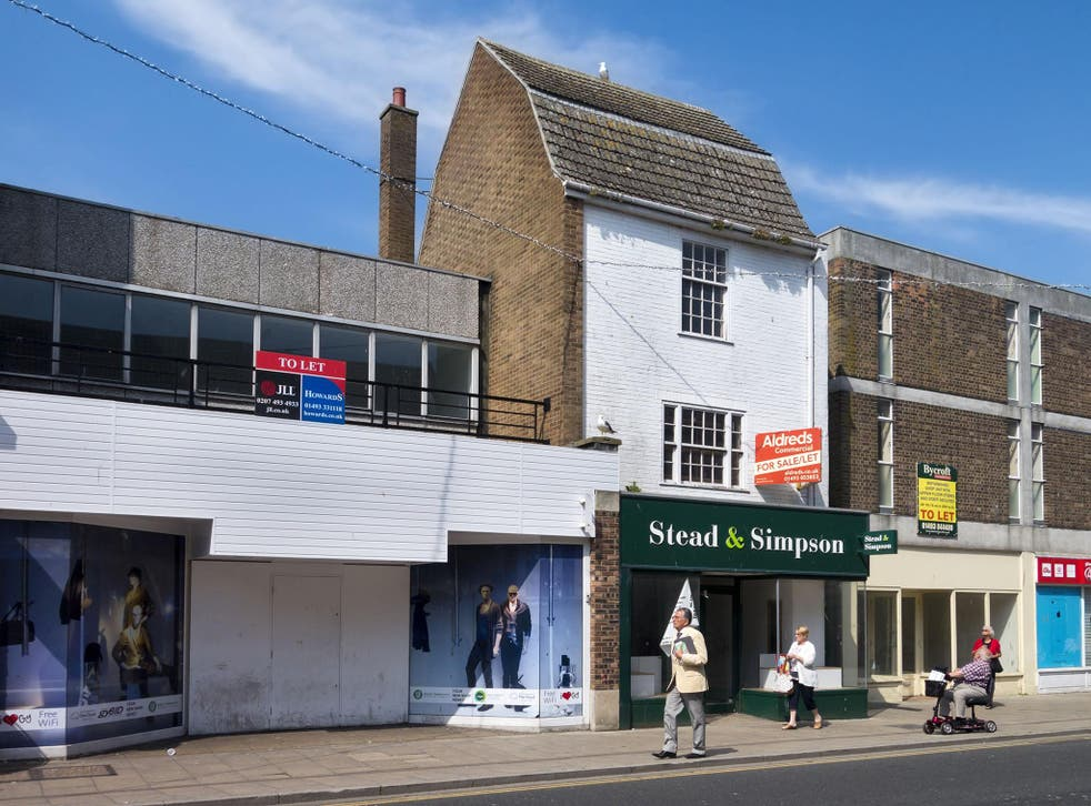 Closed high street shops means consumers will have to go out of town