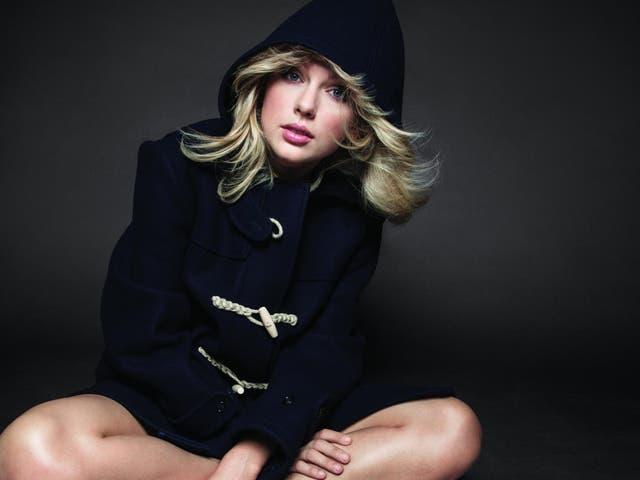 Taylor Swift in Celine coat in American Vogue