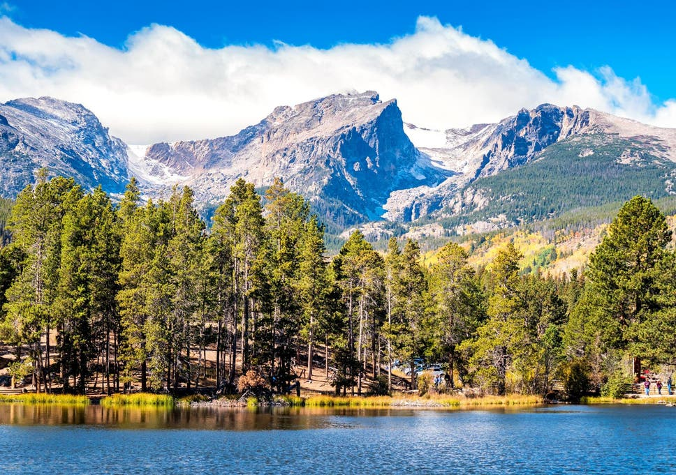 Plastic shards, beads and fibres were found in the most remote sites in Rocky Mountain National Park (pictured)