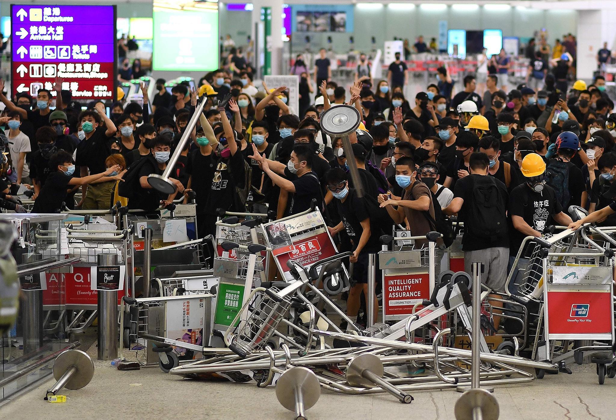 Hong Kong protests: China calls demonstrators 'terrorists', amid fears of military escalation