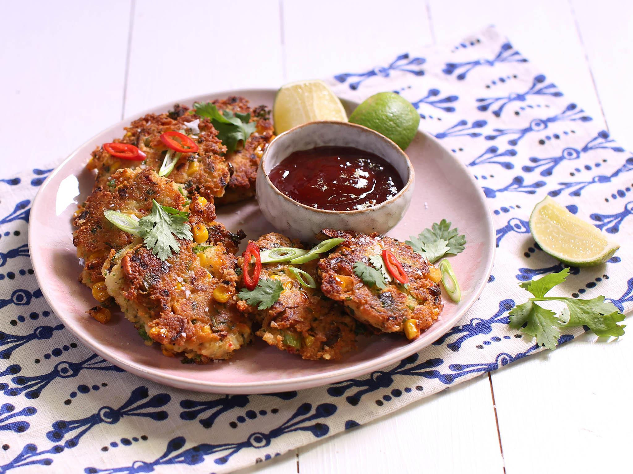 How to make crab, corn and coconut fritters 1