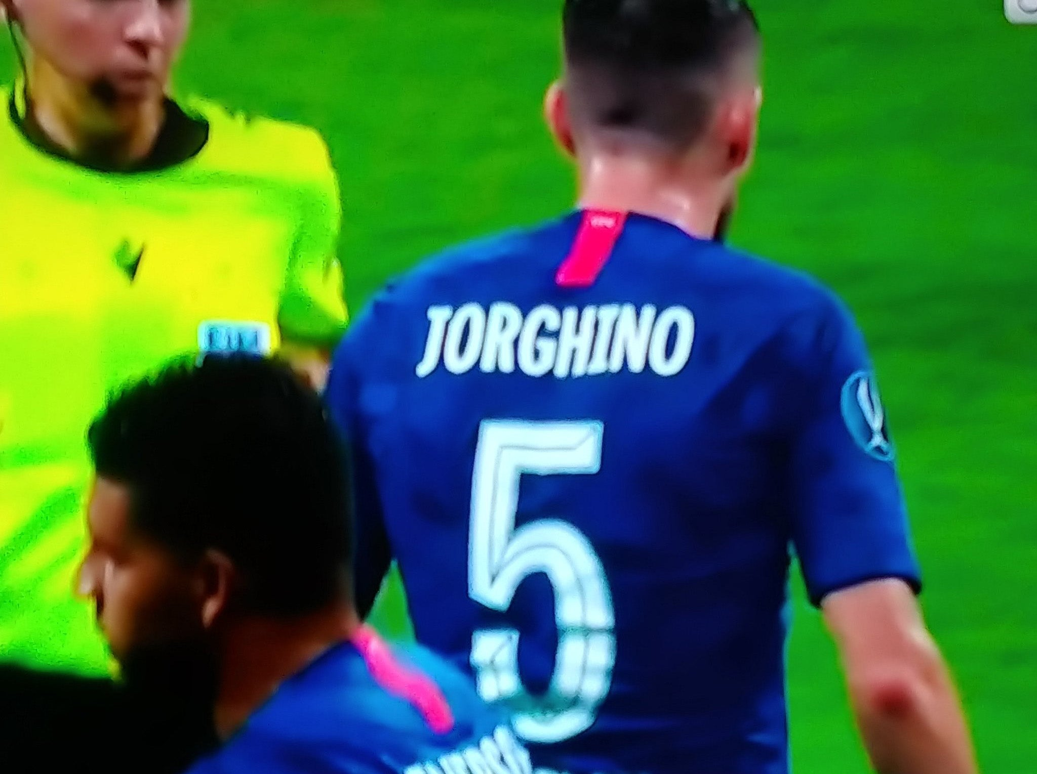 pretty nice cc59b a0c08 Super Cup: Jorginho suffers from odd mistake during ...