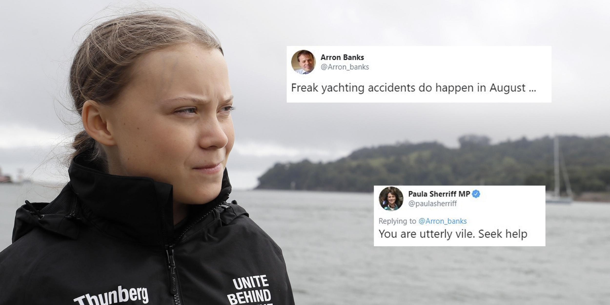 Brexiteer ridiculed for posting 'joke' about Greta Thunberg being in a 'freak yachting accident'