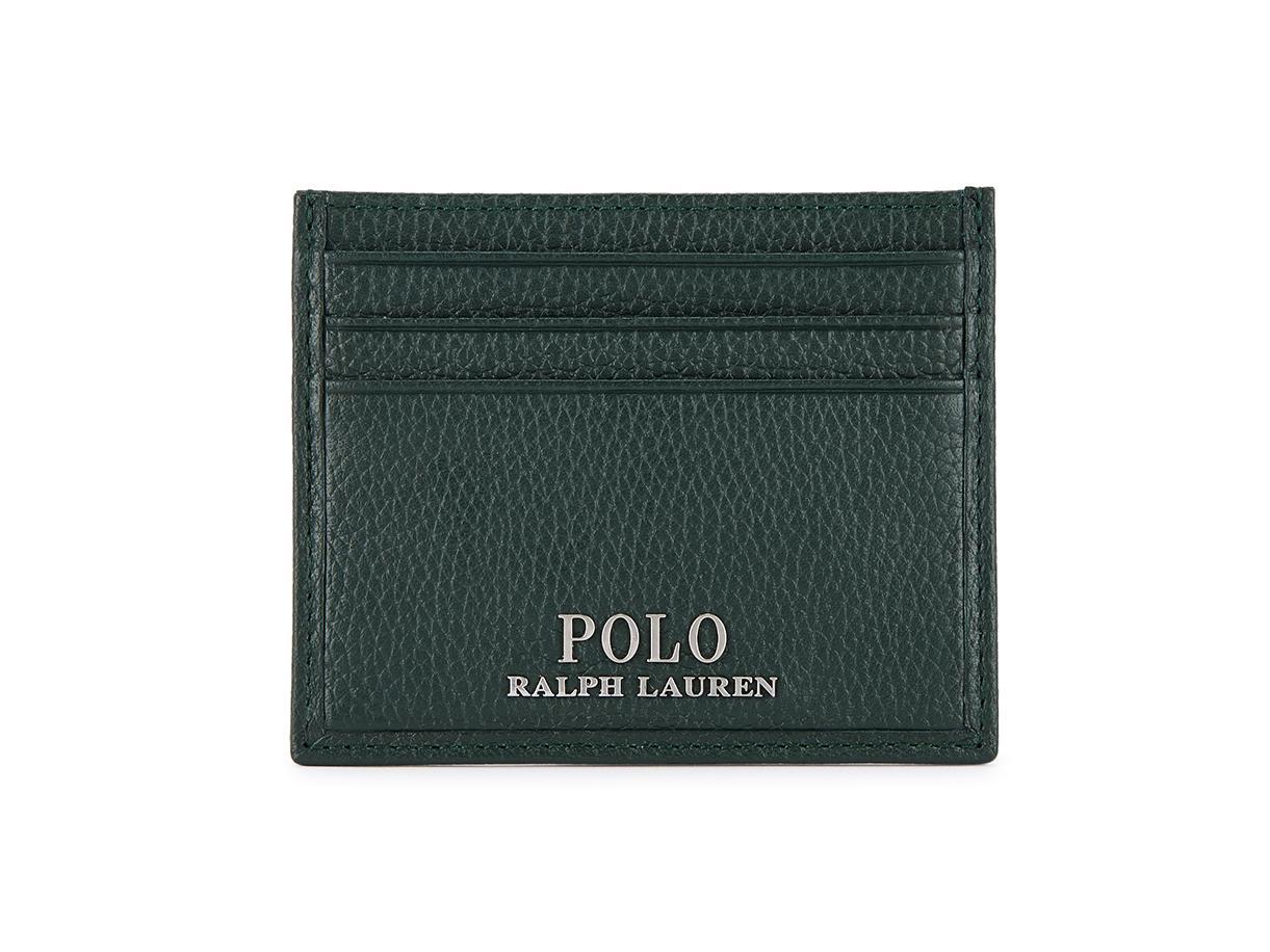 POLO Ralph Lauren Card Holder New Small Black leather Men/'s Card Holder.