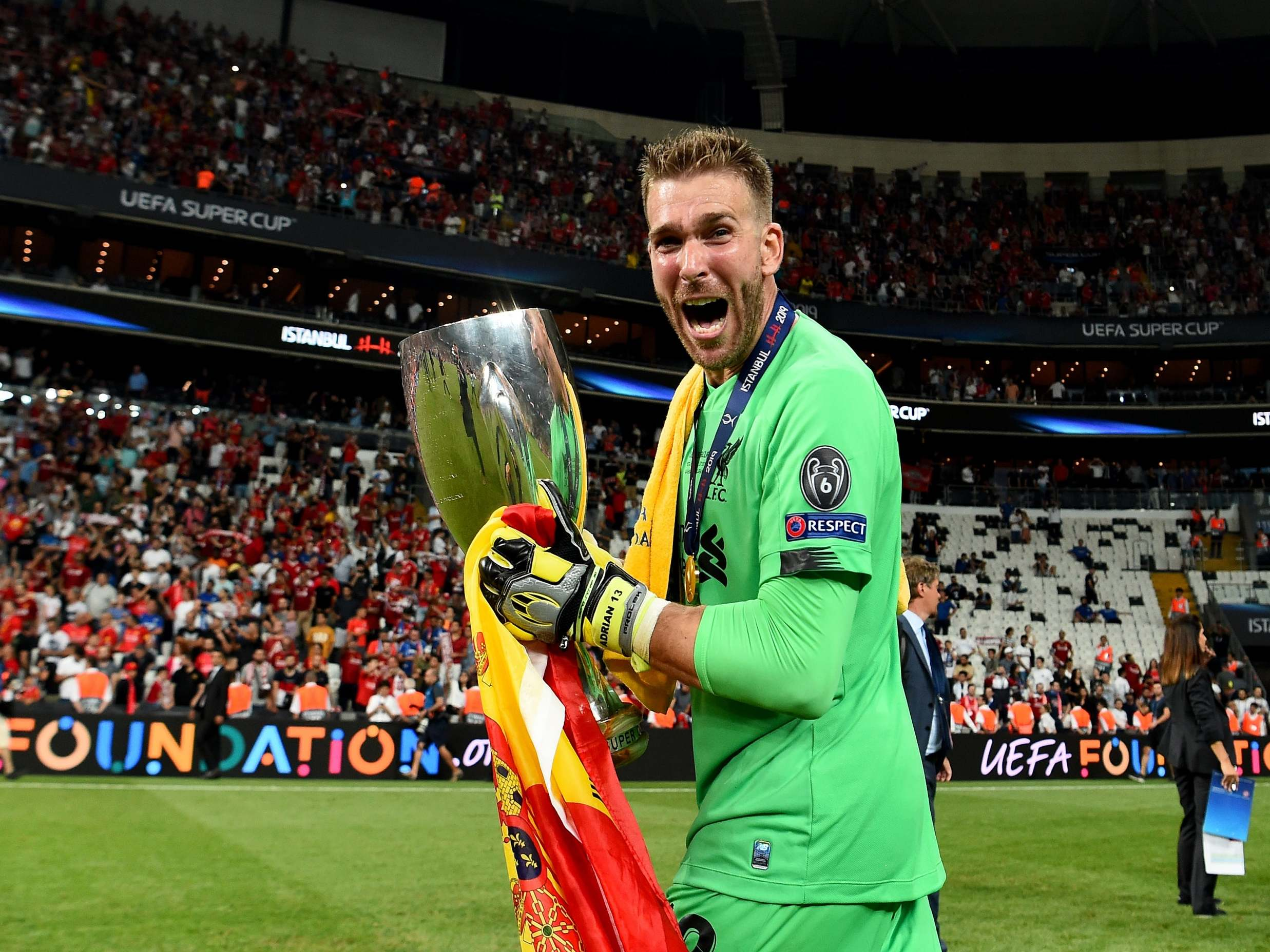 Liverpool news: Manuel Pellegrini admits he wanted Super Cup hero Adrian to remain at West Ham
