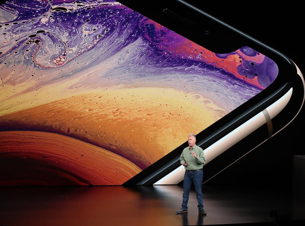 Phil Schiller, senior vice president of worldwide marketing at Apple Inc., speaks at an Apple event at the Steve Jobs Theater at Apple Park on September 12, 2018 in Cupertino, California