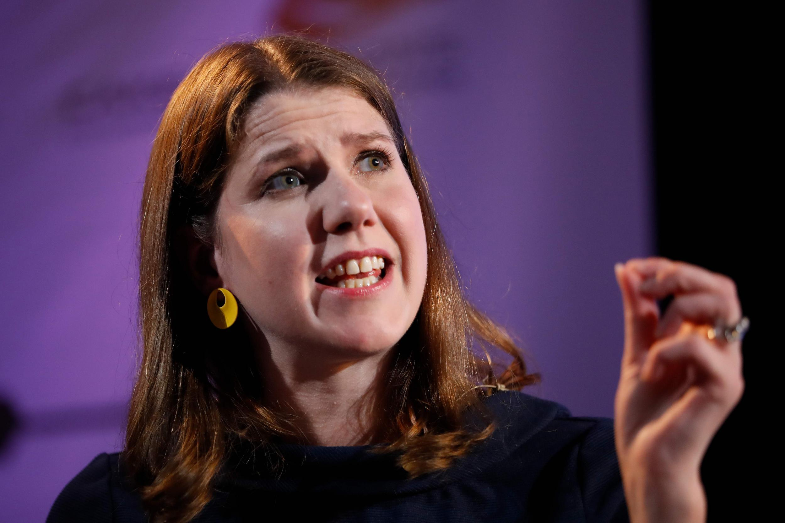 Swinson urges Corbyn to give up hopes of leading unity government if Johnson is ousted