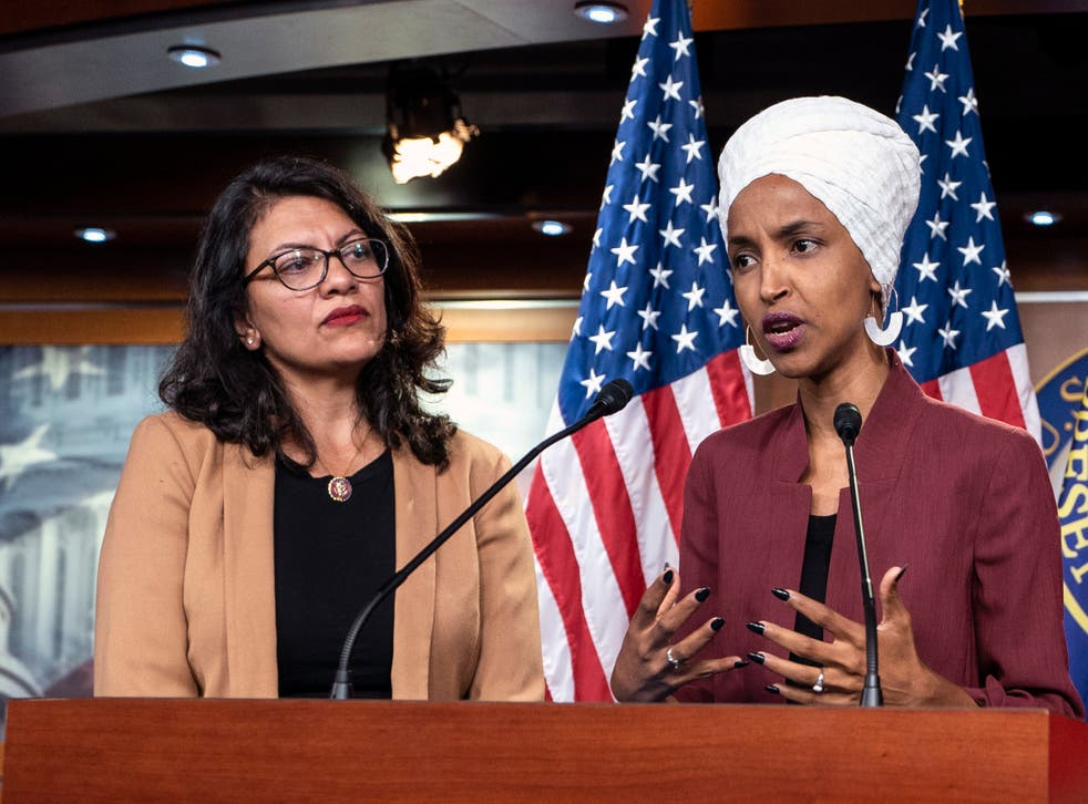 Democratic Congresswomen Rashida Tlaib and Ilhan Omar were threatened in a campaign email from Florida Republican George Buck.
