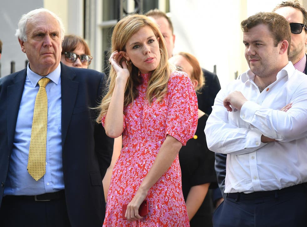 Carrie Symonds while waiting for boyfriend Boris Johnson to arrive at Number 10, Downing Street on 24 July