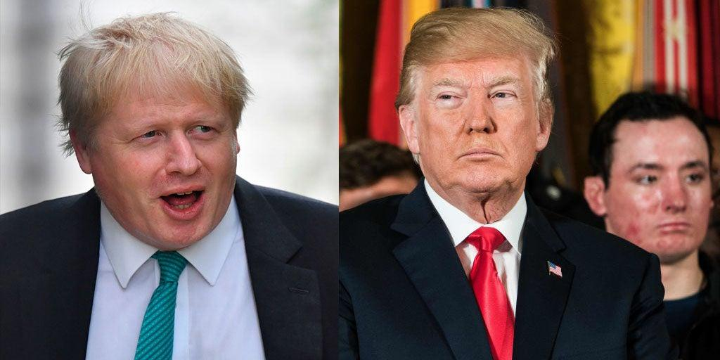 Trump says he and Boris Johnson are 'very much aligned' and that's t…