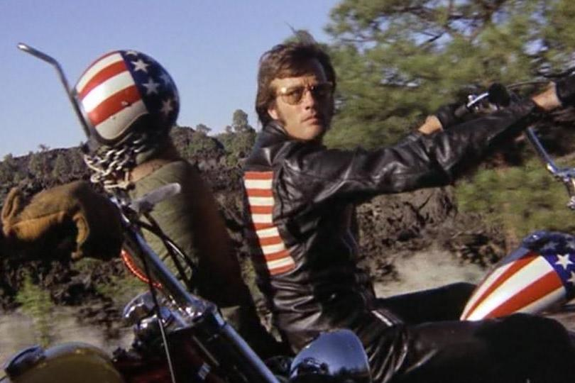 Peter Fonda in Easy Rider is a counterculture image as quintessentially American as the Stature of Liberty