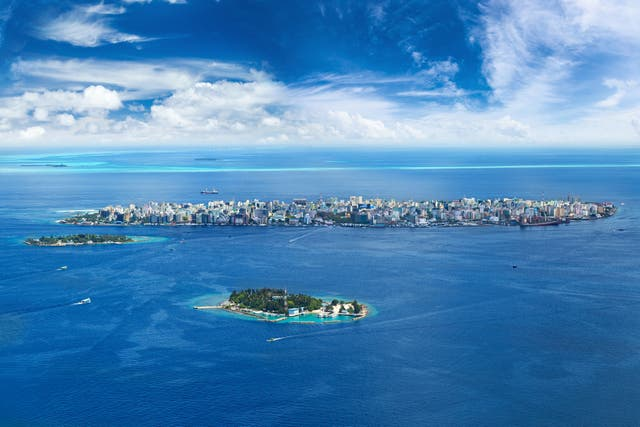 Male, Maldives: the entire country could be submerged by 2100 due to sea-level rise