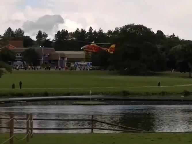 Air ambulance lands at Alton Towers and ride closed after visitor be…