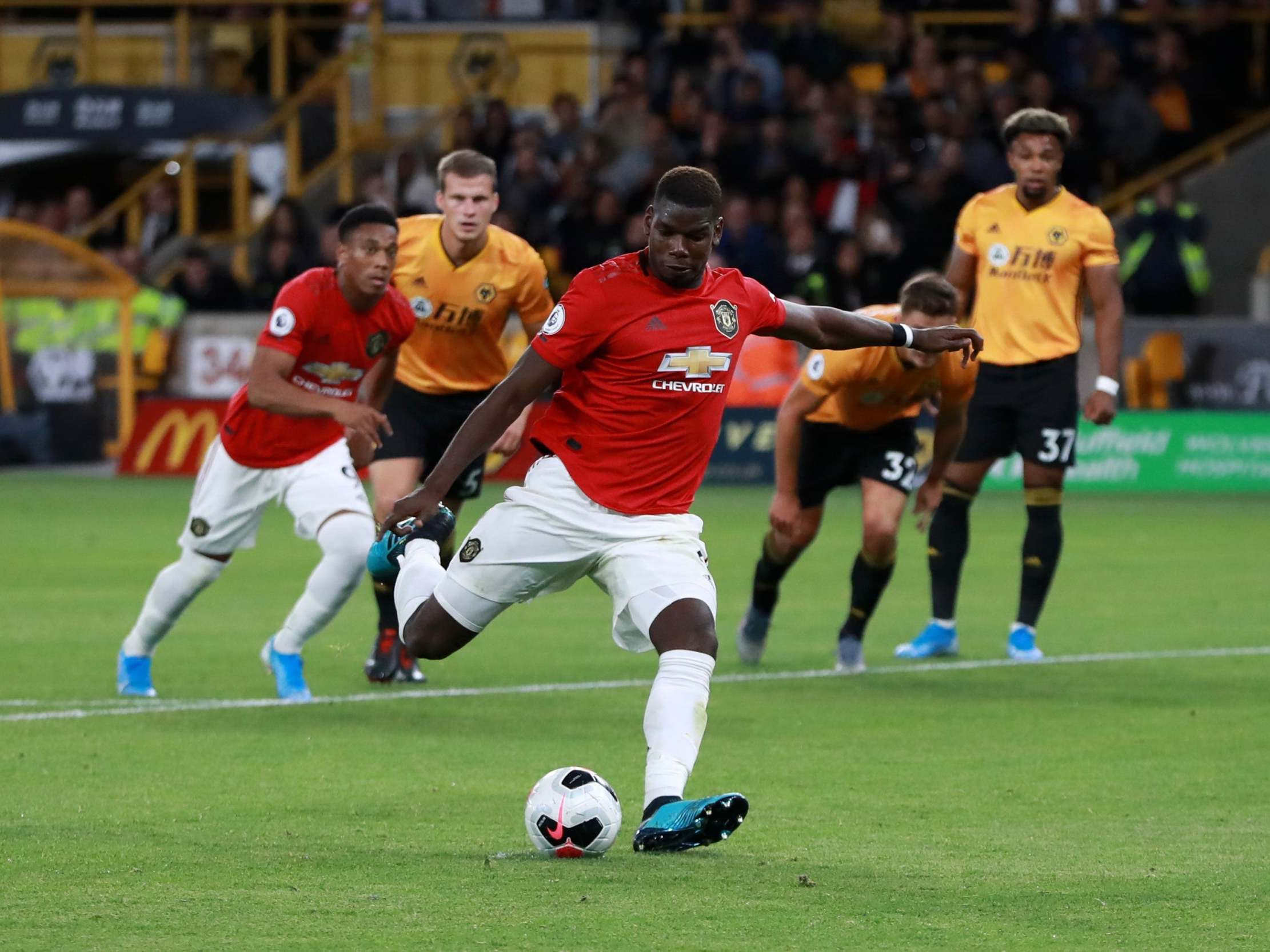 Paul Pogba took Manchester United penalty because he wanted to, reveals Marcus Rashford after Wolves draw