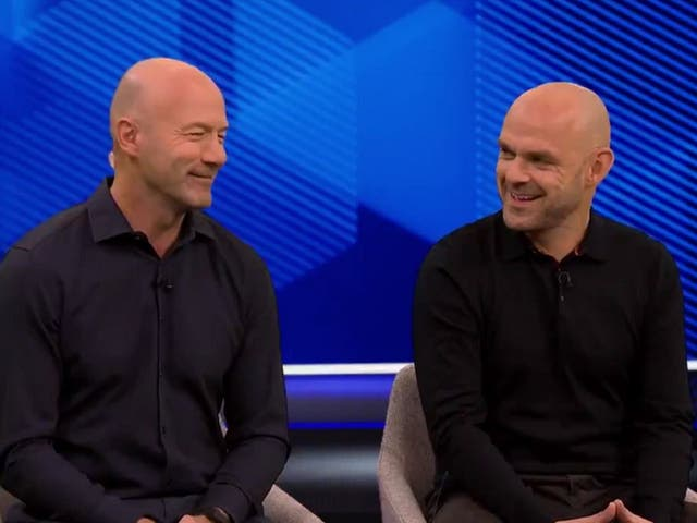 Screen grab taken from video clip of Alan Shearer and Danny Murphy appearing on Match of the Day 17 August 2019.