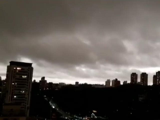 Sao Paulo is plunged into darkness in middle of the afternoon