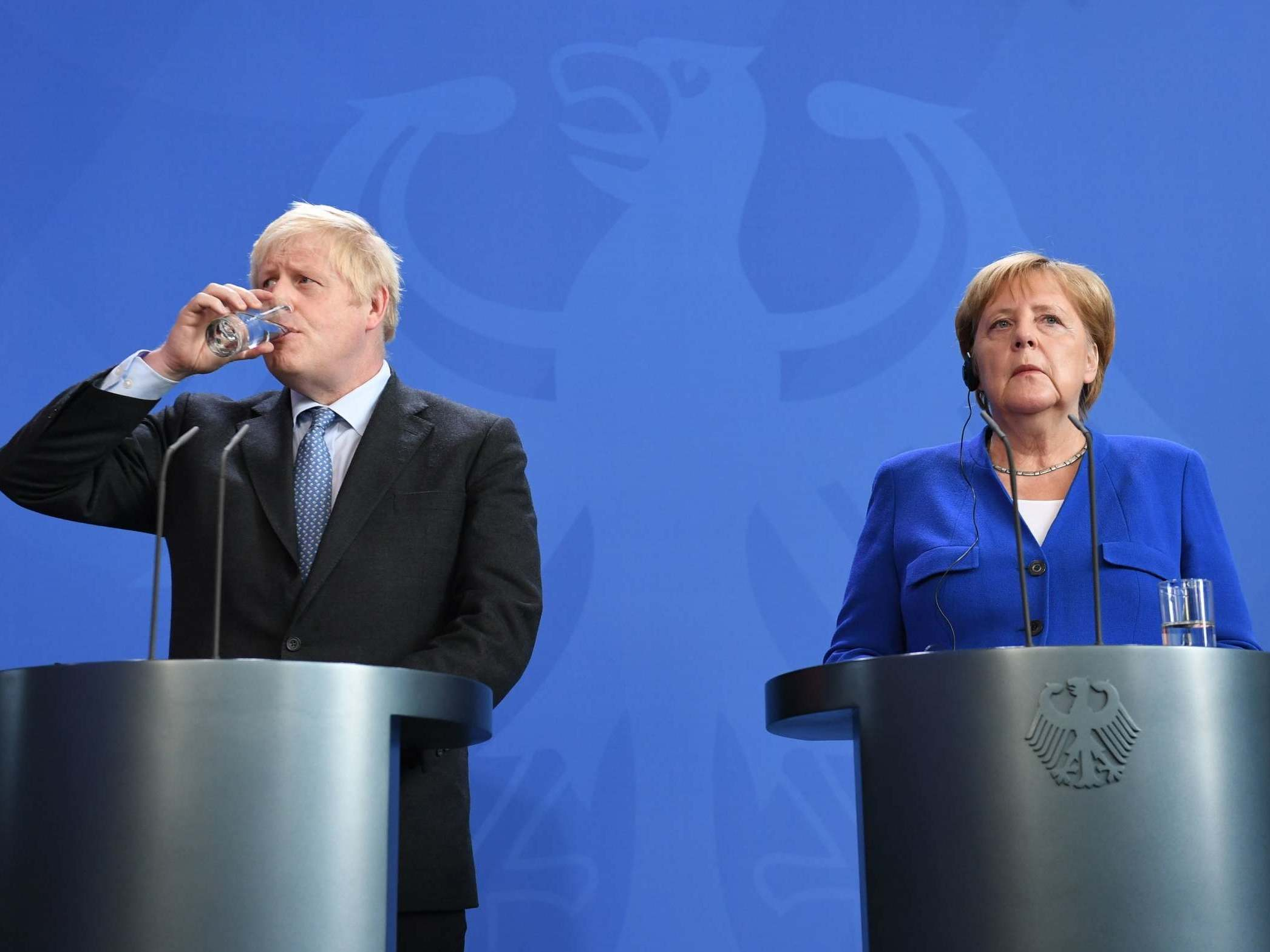 It took Boris Johnson thirty seconds to try to get Angela Merkel to …