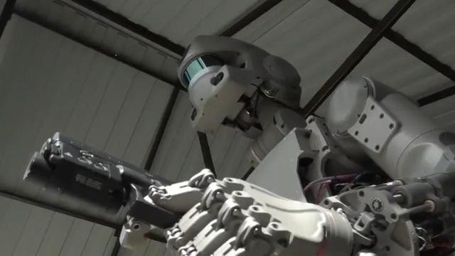 Russia has launched a humanoid robot into space on a rocket bound for the International Space Station (ISS). The robot Fedor will spend 10 days aboard the ISS practising skills such as using tools to fix issues onboard. Russia's deputy prime minister Dmitry Rogozin has previously shared videos of Fedor handling and shooting guns at a firing range with deadly accuracy.