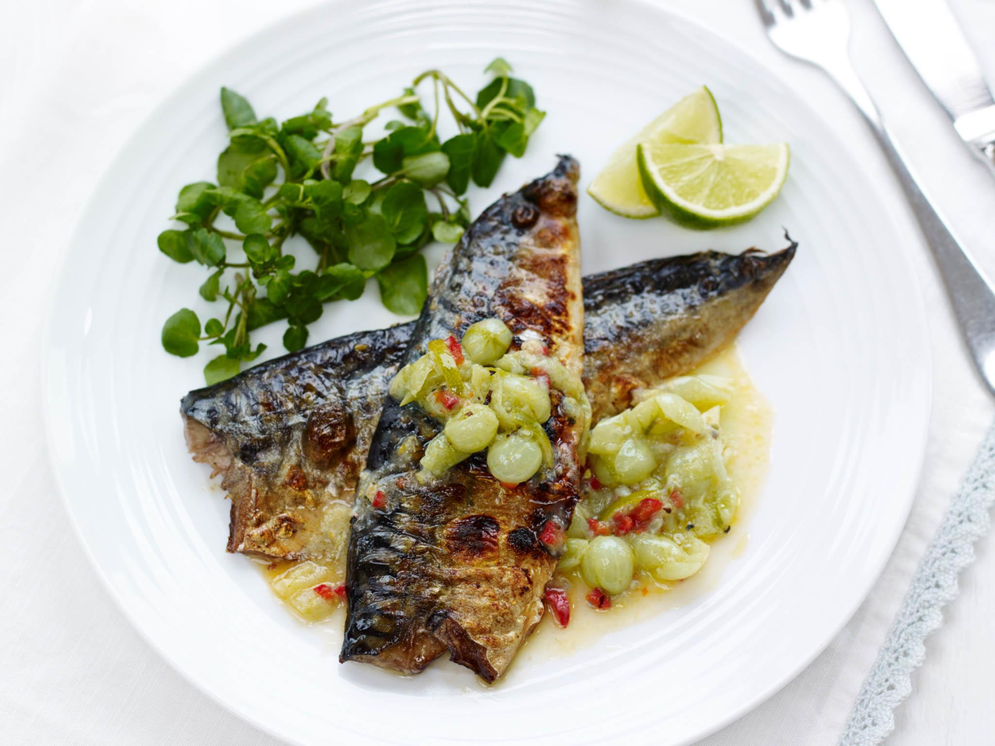 How to make mackerel with gooseberry, lime and chilli marinade 1