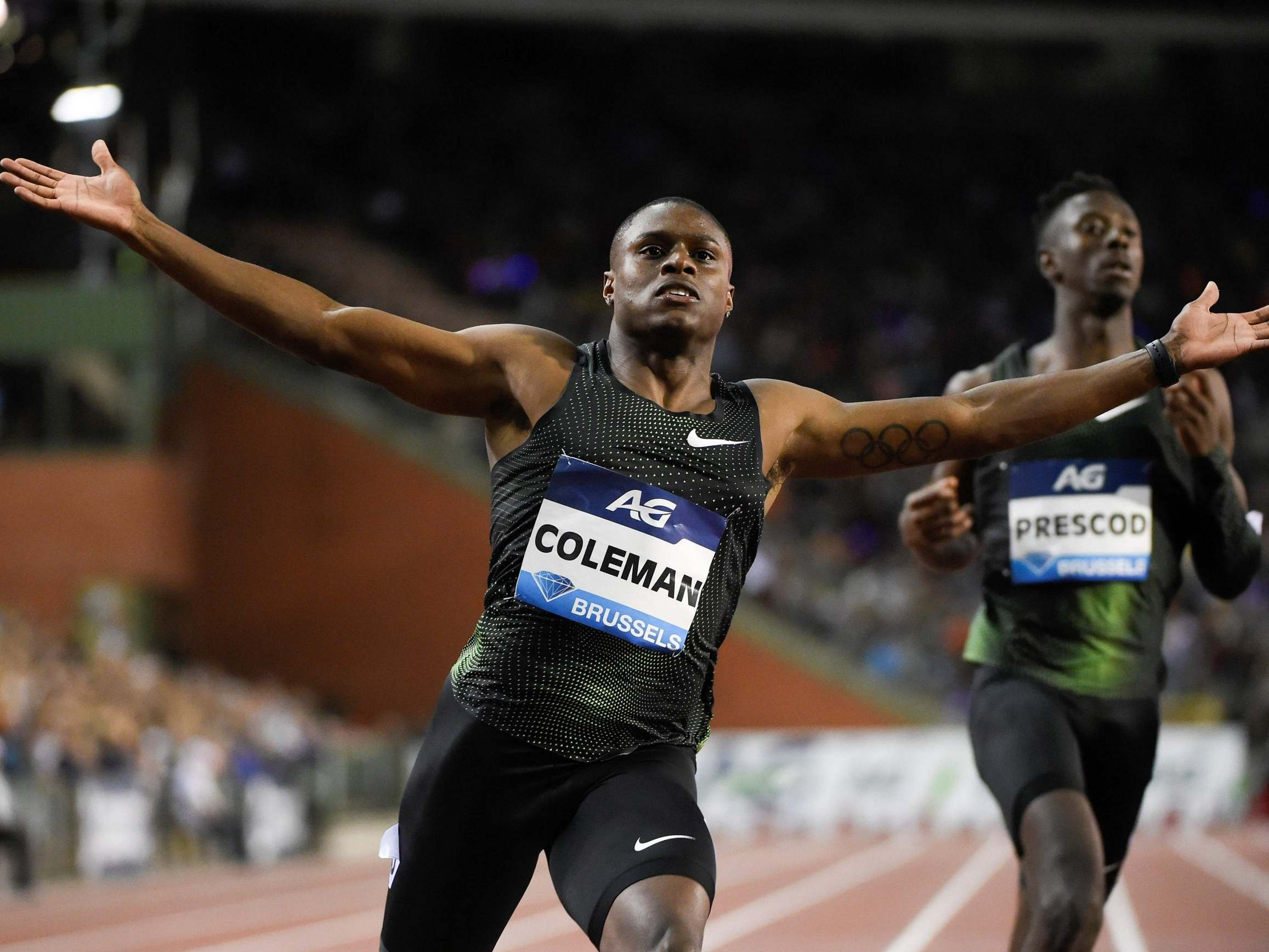 World's fastest man Christian Coleman could be banned from Olympics over 'three missed drugs tests'