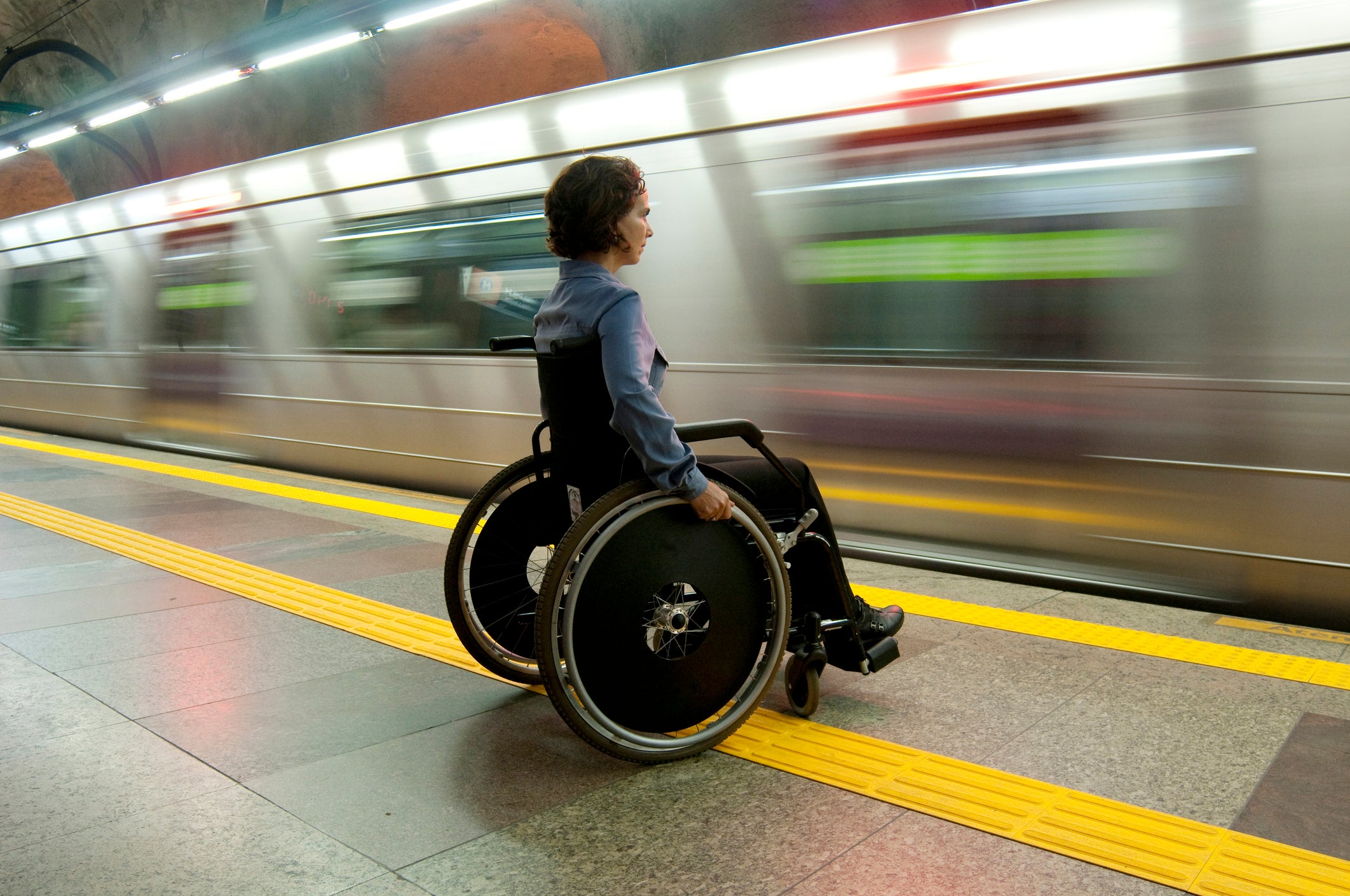 A disabled woman was just forced to miss her train because she uses a wheelchair
