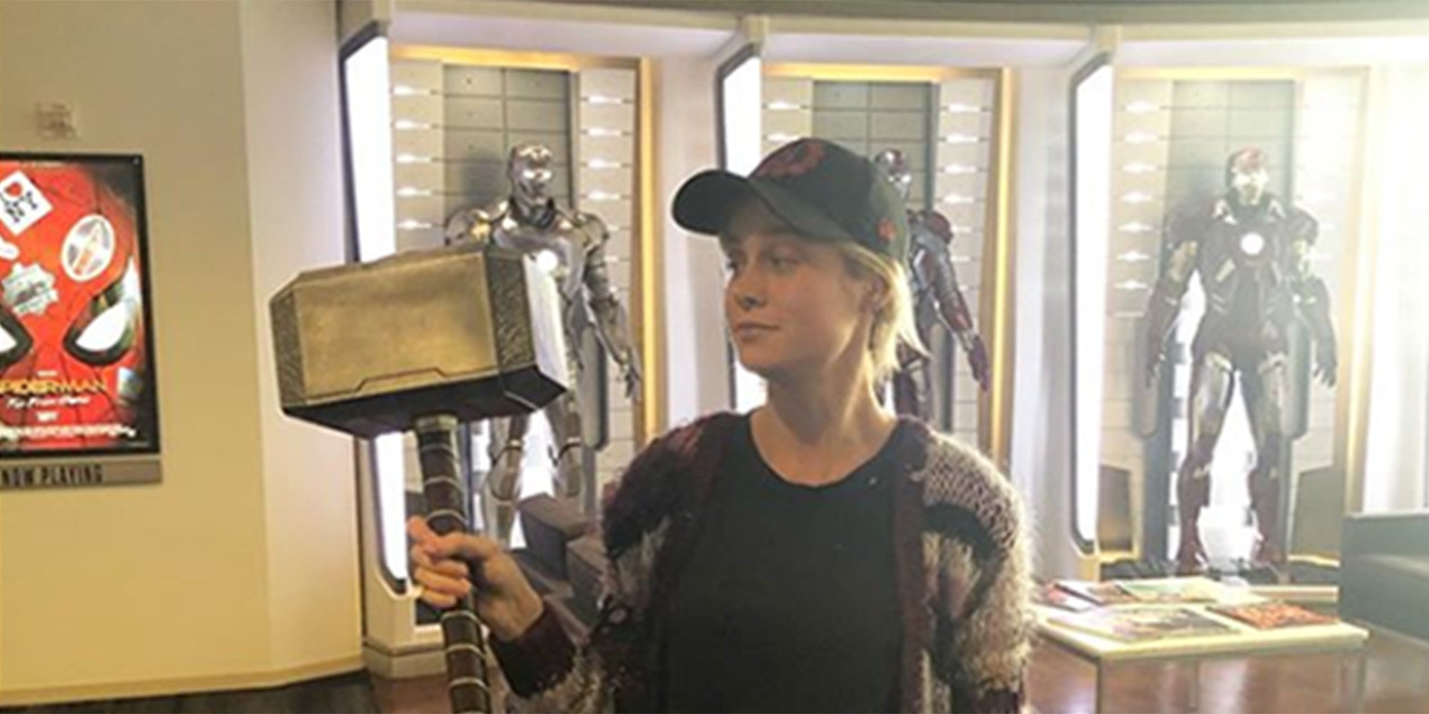 Brie Larson posed with Thor's hammer and it upset a lot of fanboys