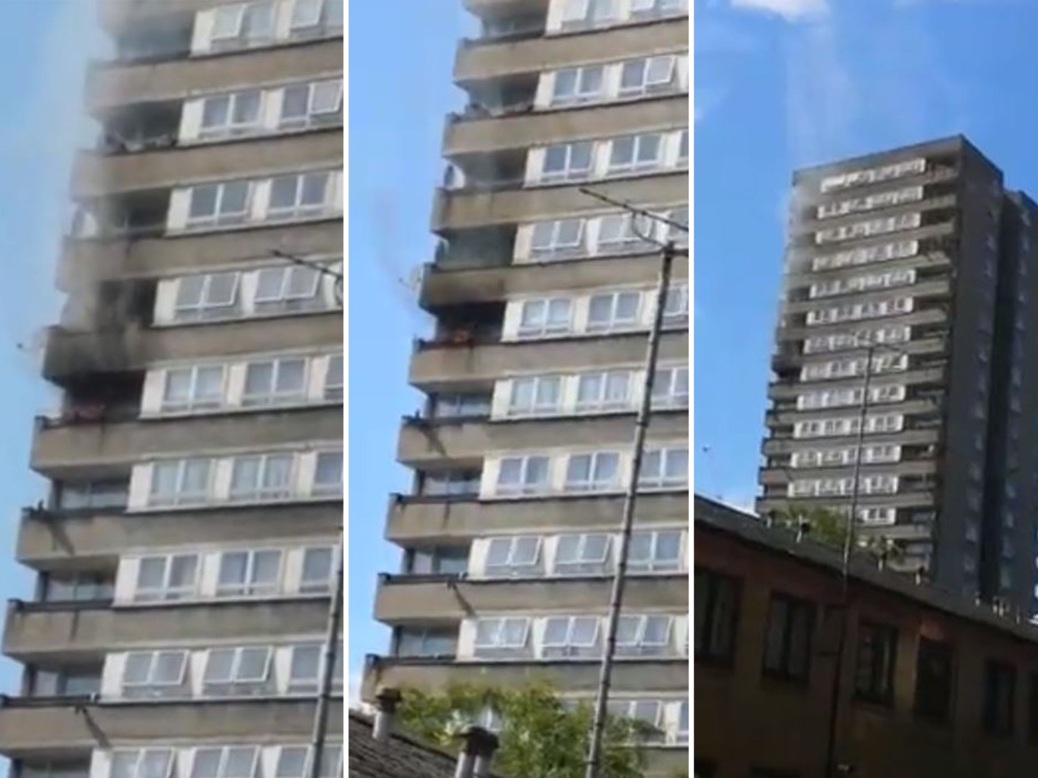 Notting Hill fire: Blaze breaks out in London tower block near Grenfell