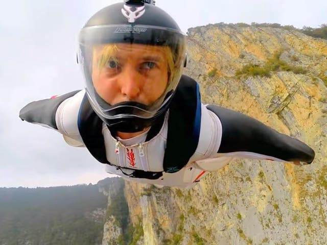 Grubisic's goal was to jump from 45,000 feet and fly as far as possible for around 15 minutes (