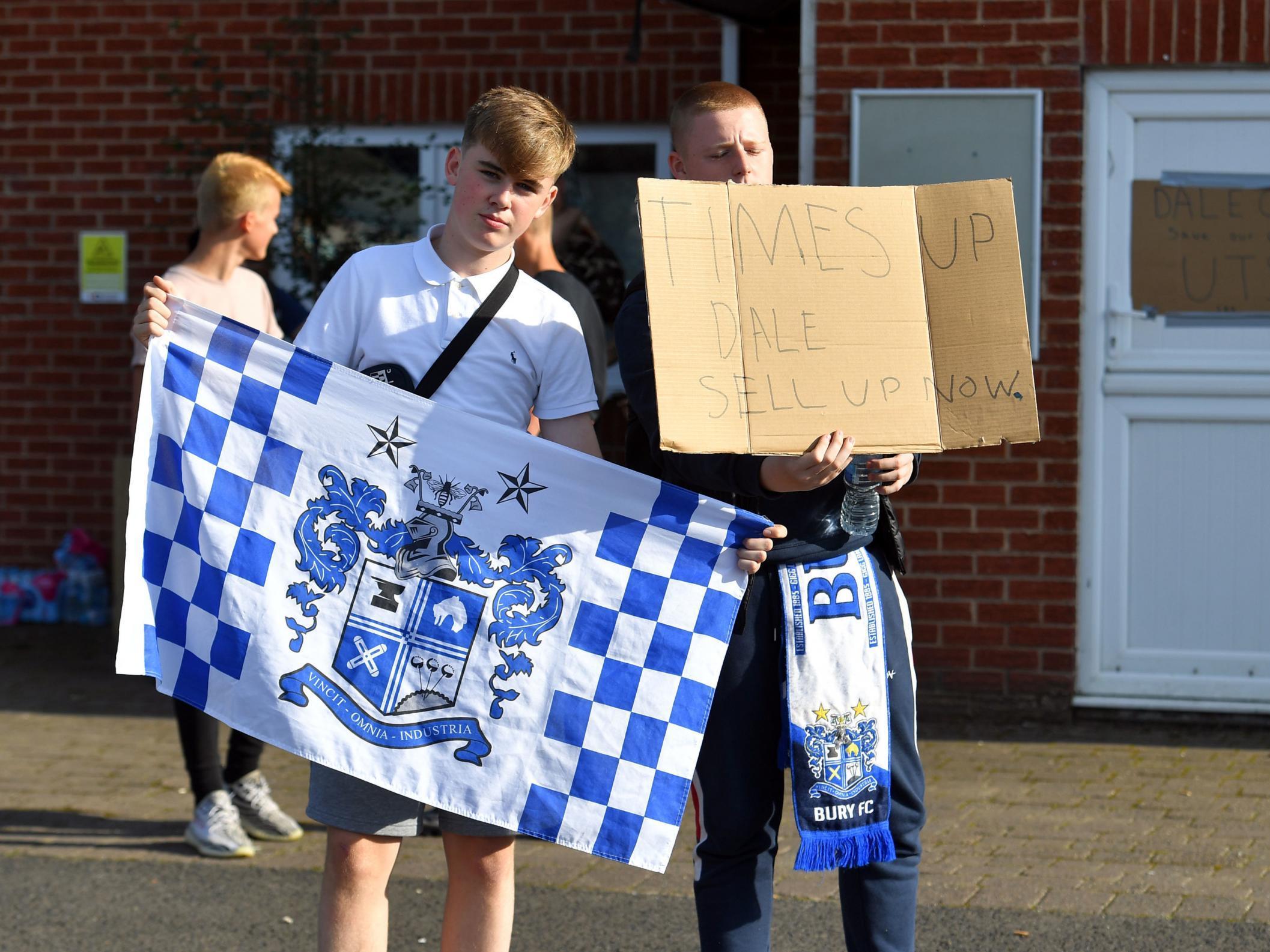 Bury FC owner Steve Dale says club has been sold hours before EFL de…
