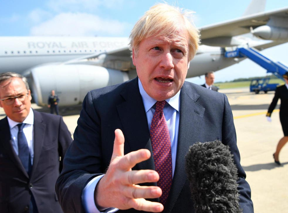 Boris Johnson expects talks with EU on the Irish backstop 'in the coming weeks' and returns Donald Tusk's warning of going down in history as 'Mr No-Deal Brexit'