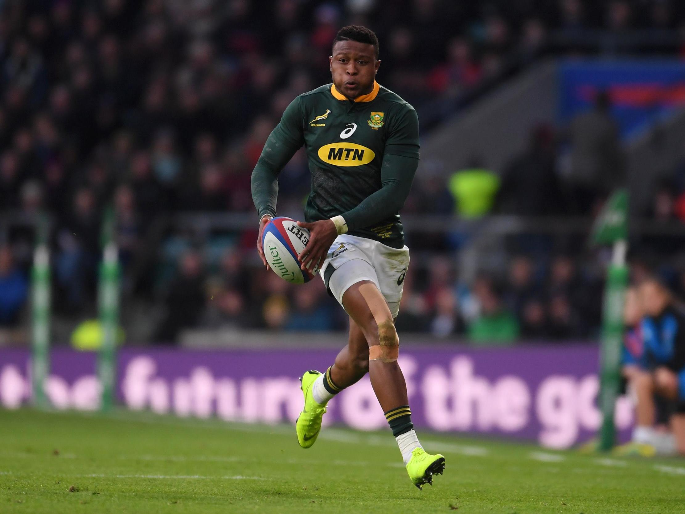 Aphiwe Dyantyi: South Africa rugby player fails drugs test