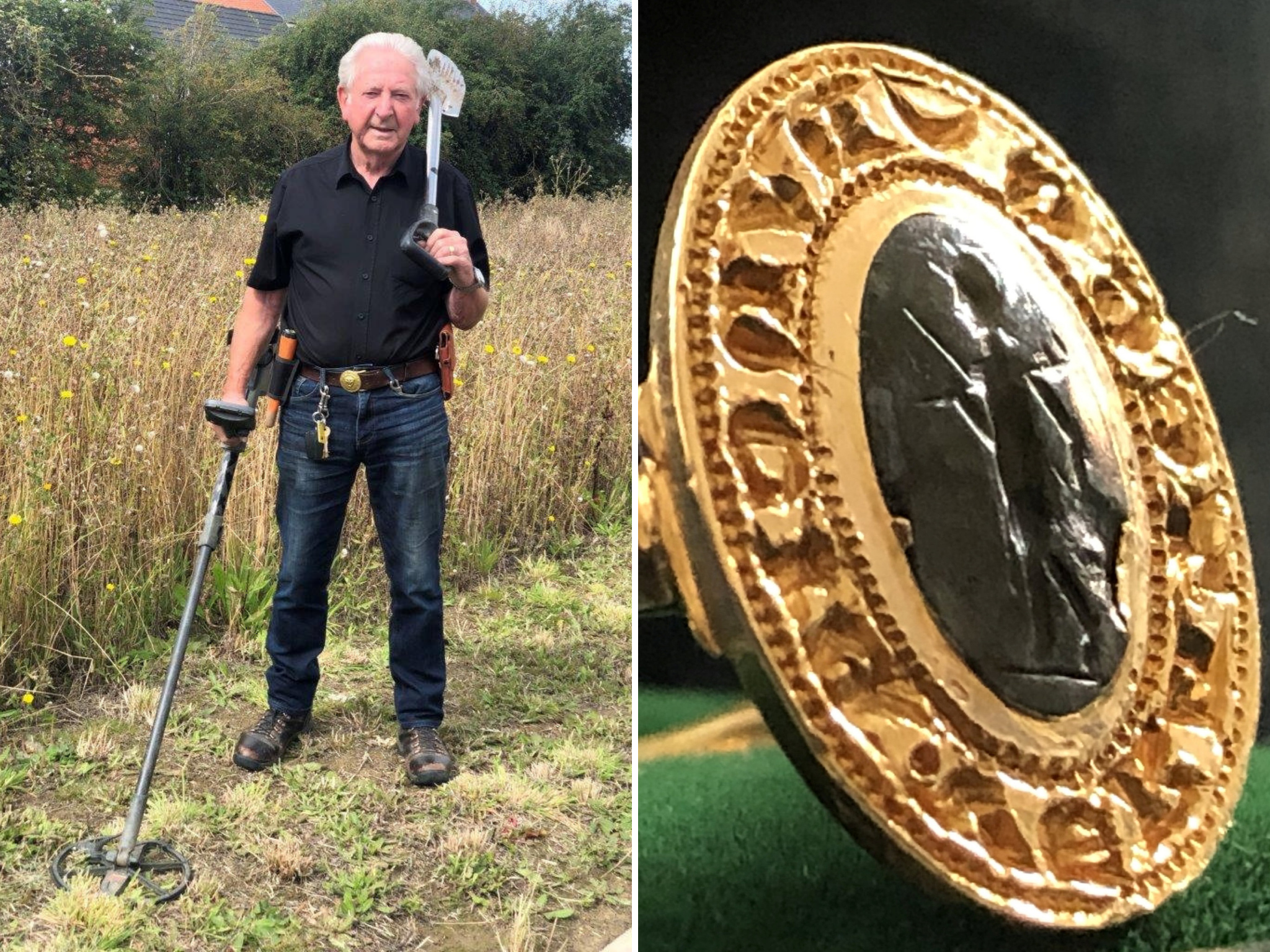 Pensioner discovers ring found buried in field is medieval artefact worth up to £10,000