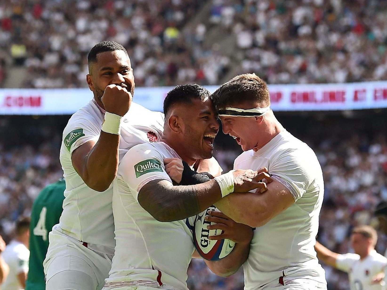 England vs Ireland: Manu Tuilagi sparks eight-try thrashing as Irish melt in Twickenham heat