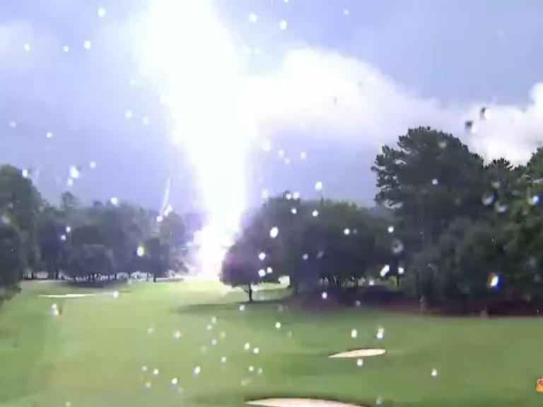 Tour Championship 2019: Fans injured by lightning strike as thunderstorms cause play suspension