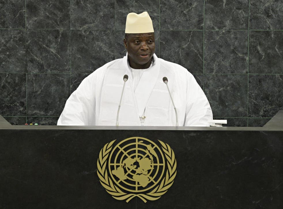 Hit men of the former Gambian dictator Yahya Jammeh (pictured) are being offered amnesty to encourage others to come forward
