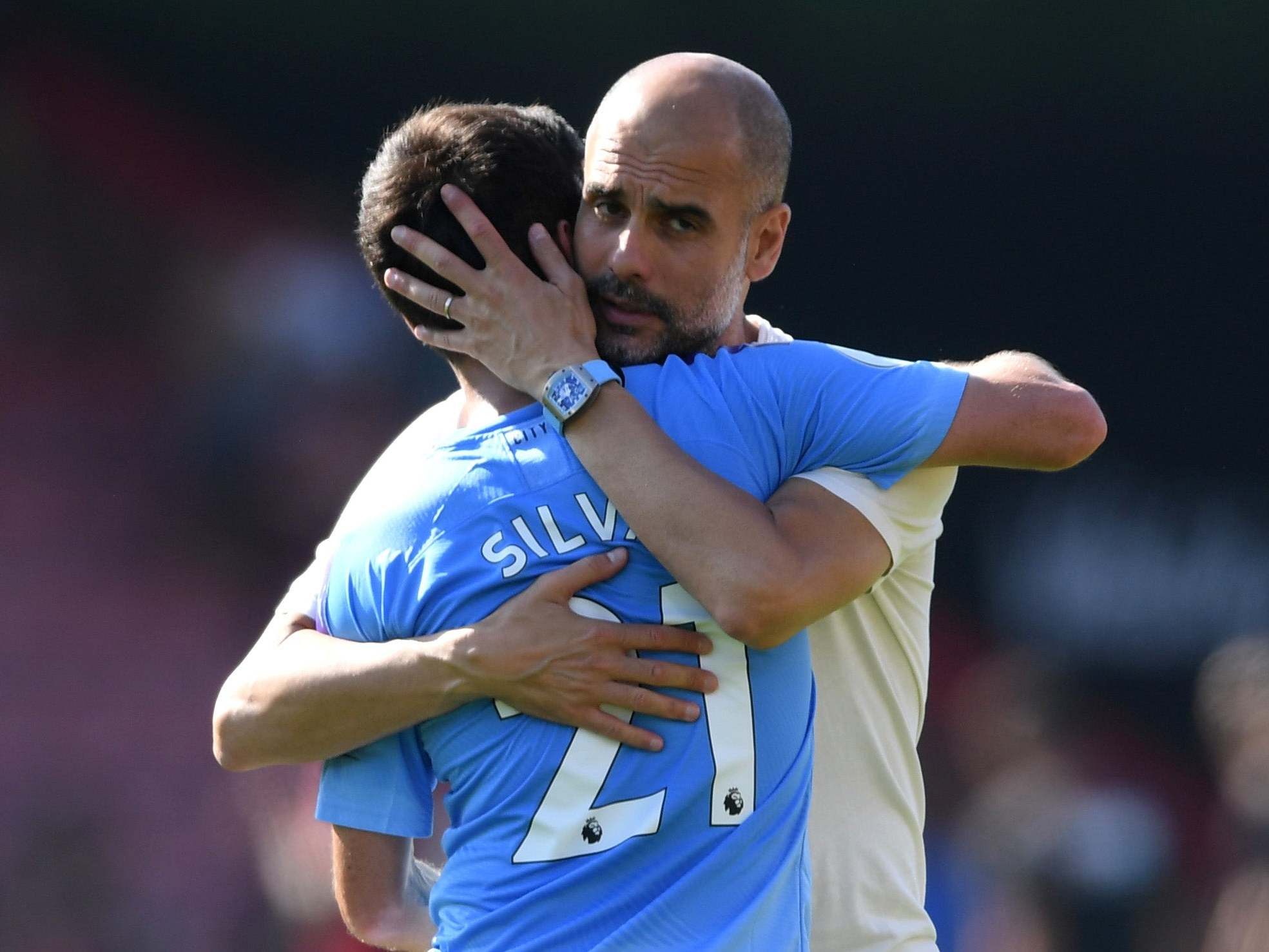 Pep Guadriola praises 'unique' Sergio Aguero and 'fighter' David Silva after pair celebrate milestones