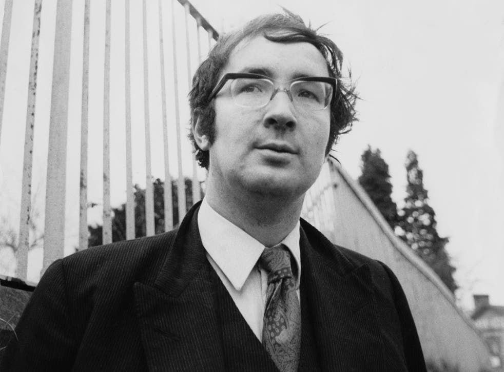 Booth outside his bookshop in June 1971