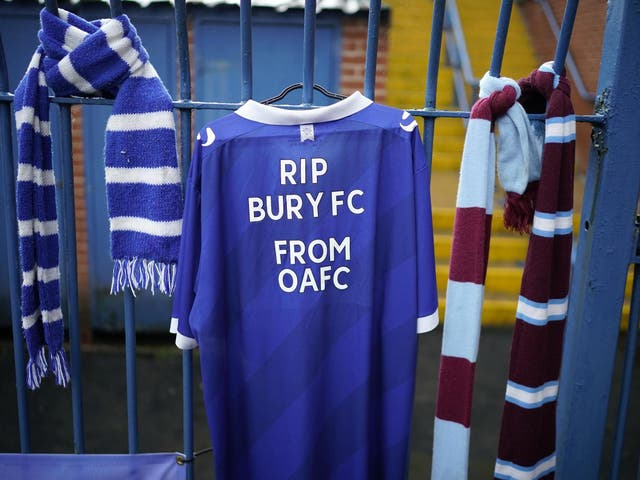 Bury folded after falling into financial struggles