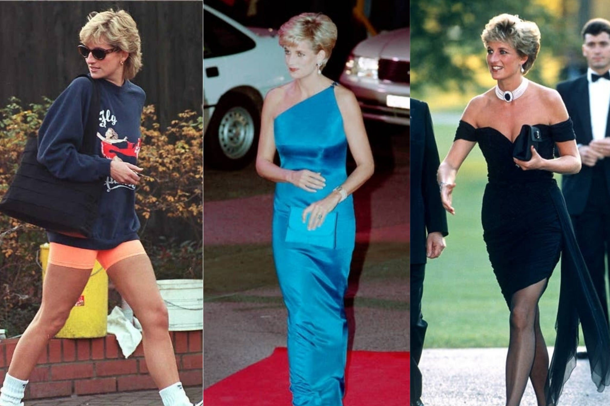 princess diana s most iconic fashion moments from cycling shorts to the revenge dress the independent the independent princess diana s most iconic fashion