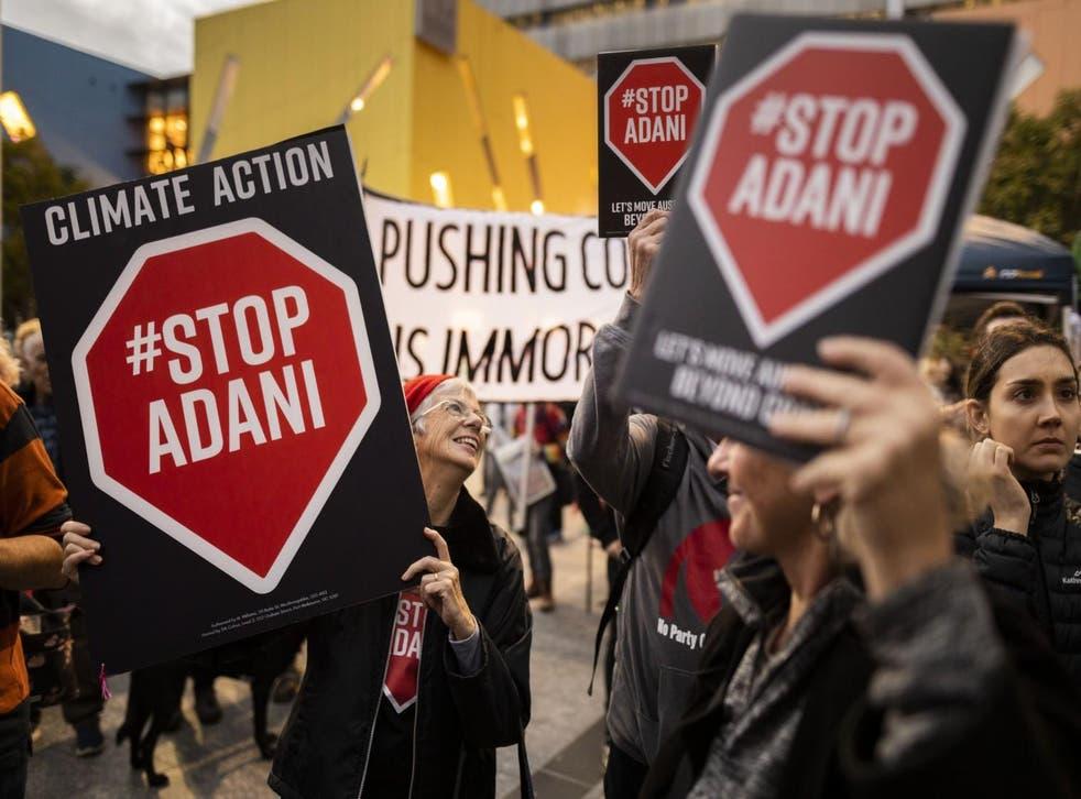 Adani protestors in Brisbane, Queensland