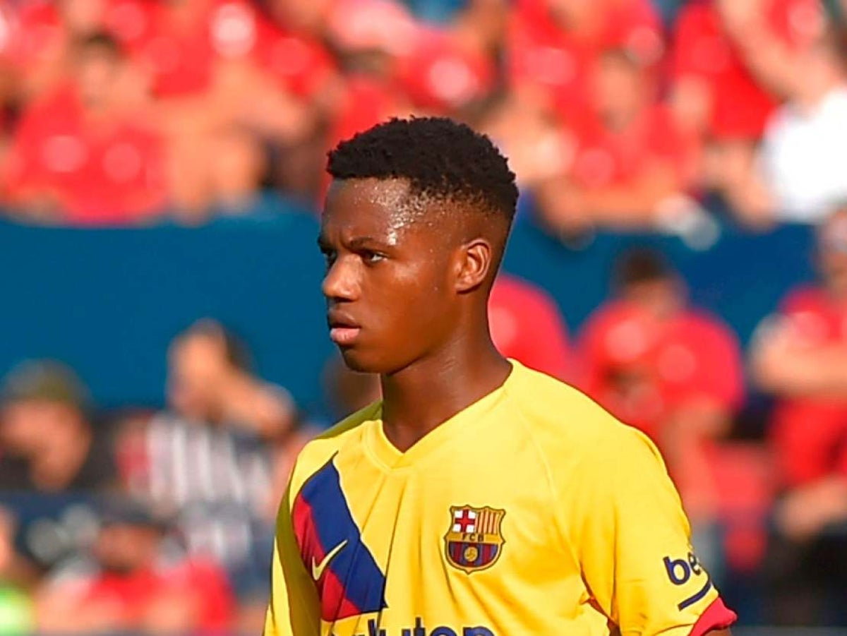 Barcelona Starlet Ansu Fati Becomes Youngest La Liga Goalscorer In Club S History The Independent The Independent